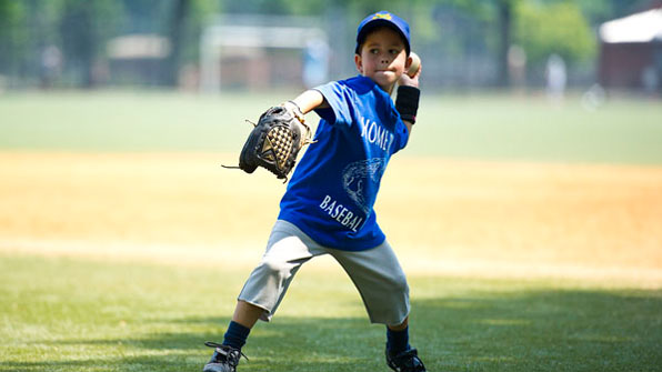 Boy throwing ball
